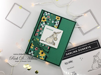 Today's You're the Best Card features the Sale-a-bration Darling Donkeys Stamp Set.  Click here to learn more and how you can earn it for FREE