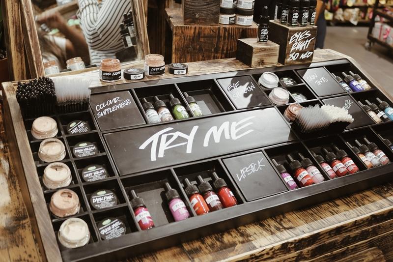 LUSH cosmetics makeup