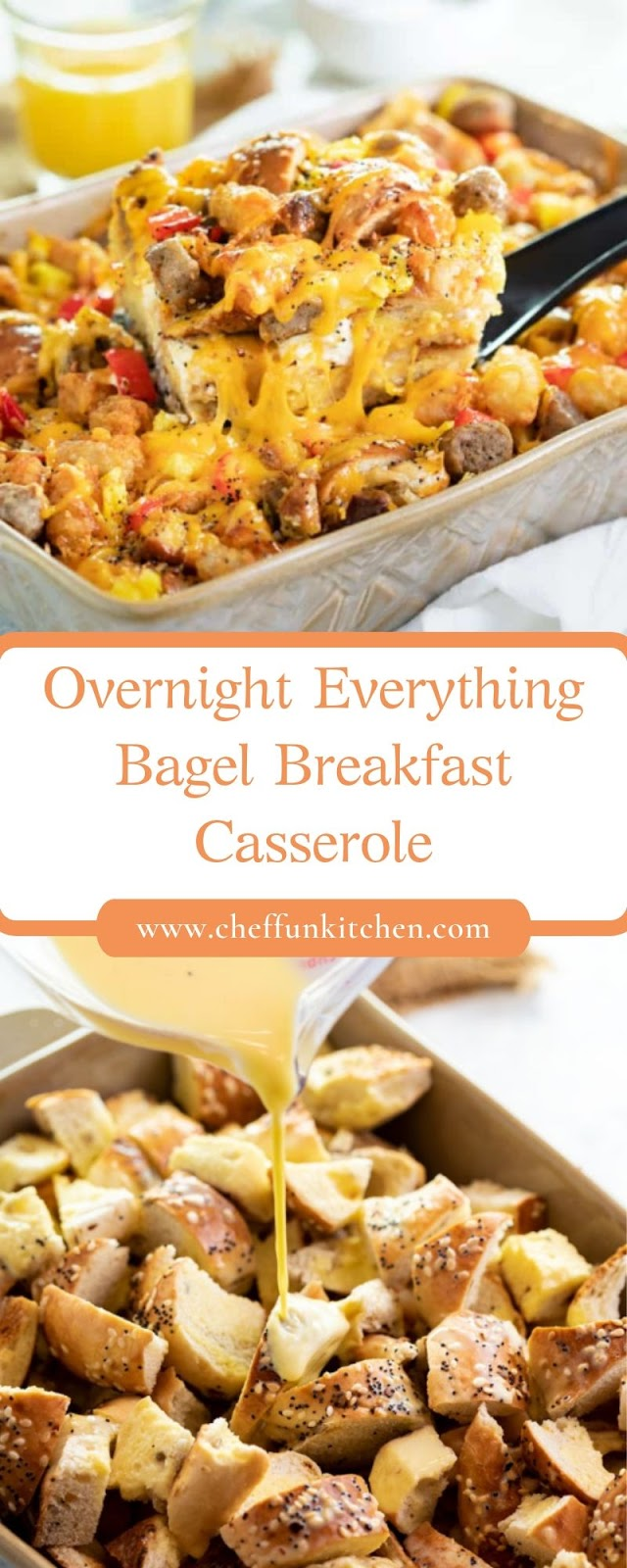 Overnight Everything Bagel Breakfast Casserole