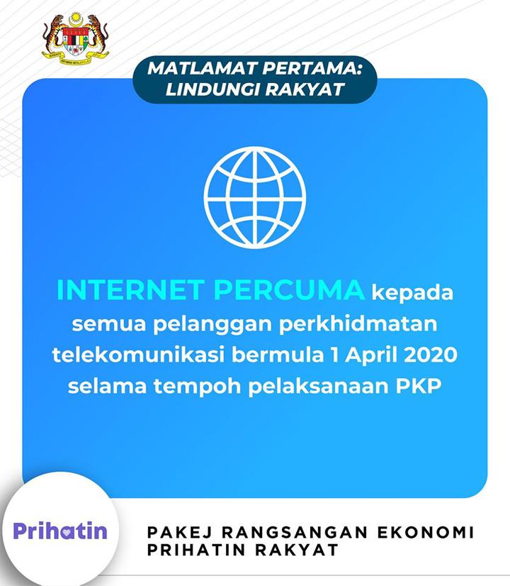Internet percuma untuk semua pelanggan