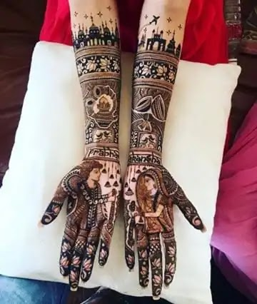 dulha-dulhan-henna-arts-for-both-hands