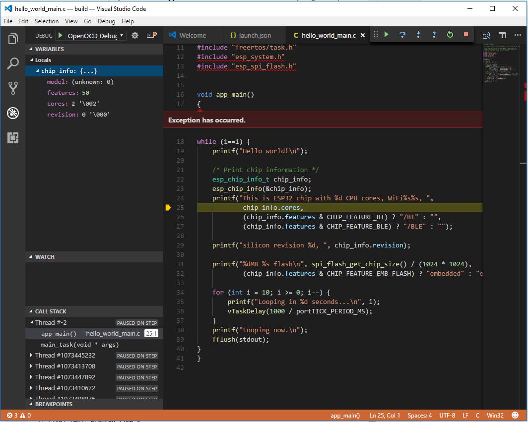 GoJimmyPi: VSCode JTAG Debugging of ESP32 - Part 3
