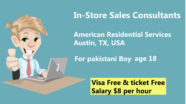 In-Store Sales Consultants job for pakistani boy