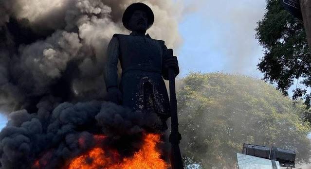 Polícia prende suspeito de atear fogo na estátua do Borba Gato   -  Adamantina Notìcias