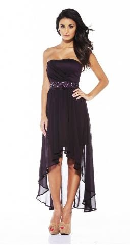 4.Eggplant Chiffon Dress In Autumn