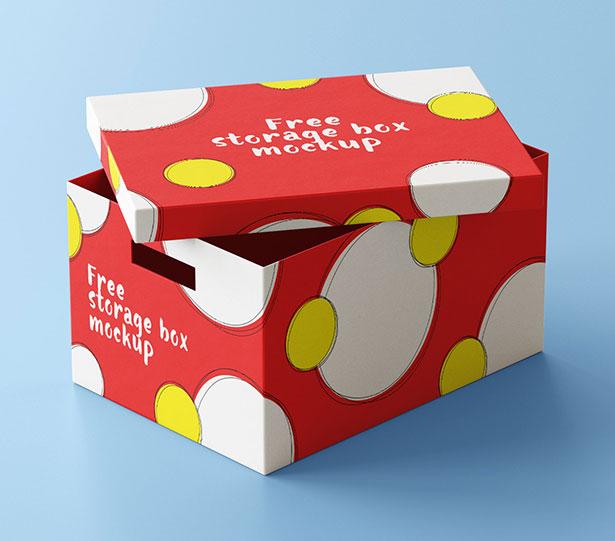 Gratis Mockup Packaging/Kemasan PSD 2018 - Storage Box Packaging Mockup PSD Set