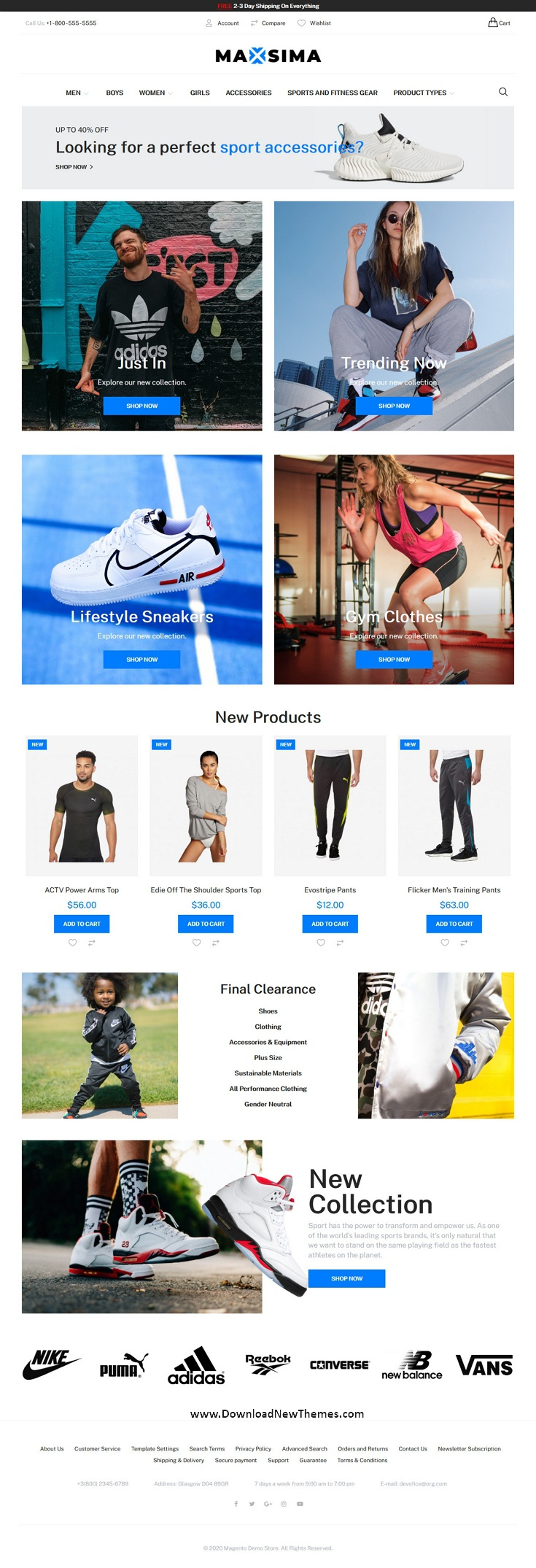 Sports eCommerce Magento Theme