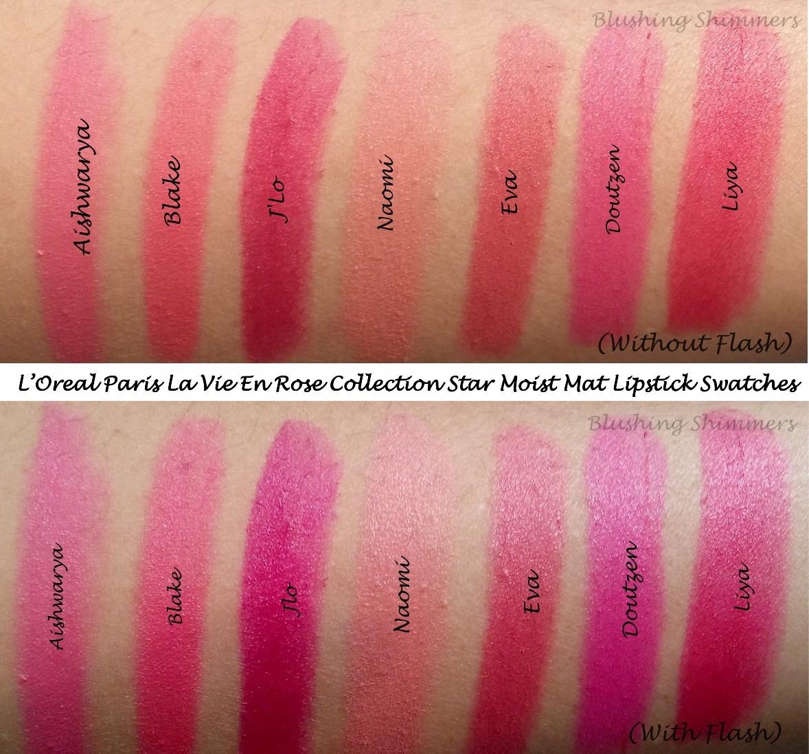 L'Oreal Paris La Vie En Rose Collection Lipstick Swatches