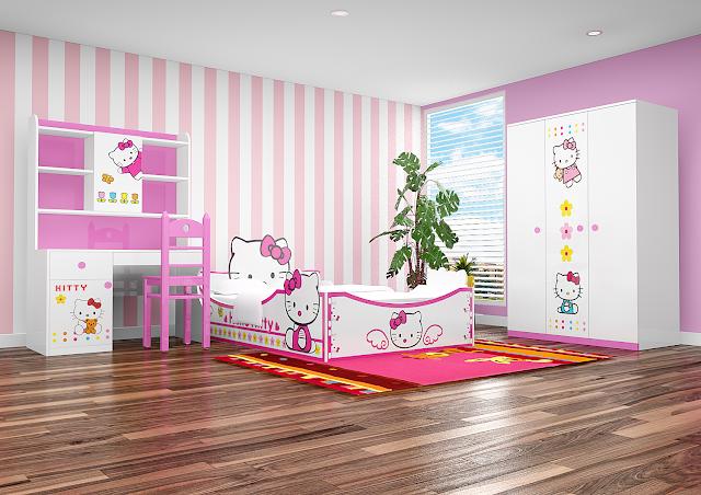 Trọn bộ nội thất hello kitty xinh xắn, đáng yêu