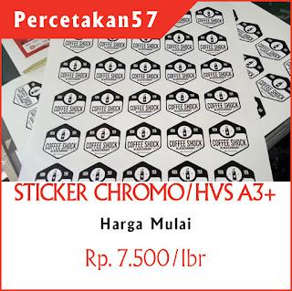 Harga stiker kromo di percetakan 57 Jakarta