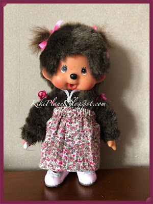 kiki monchhichi poupée doll couture sewing robe plage dress beach handmade fait main vêtement