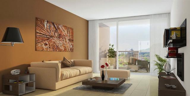 model ruang keluarga sederhana
