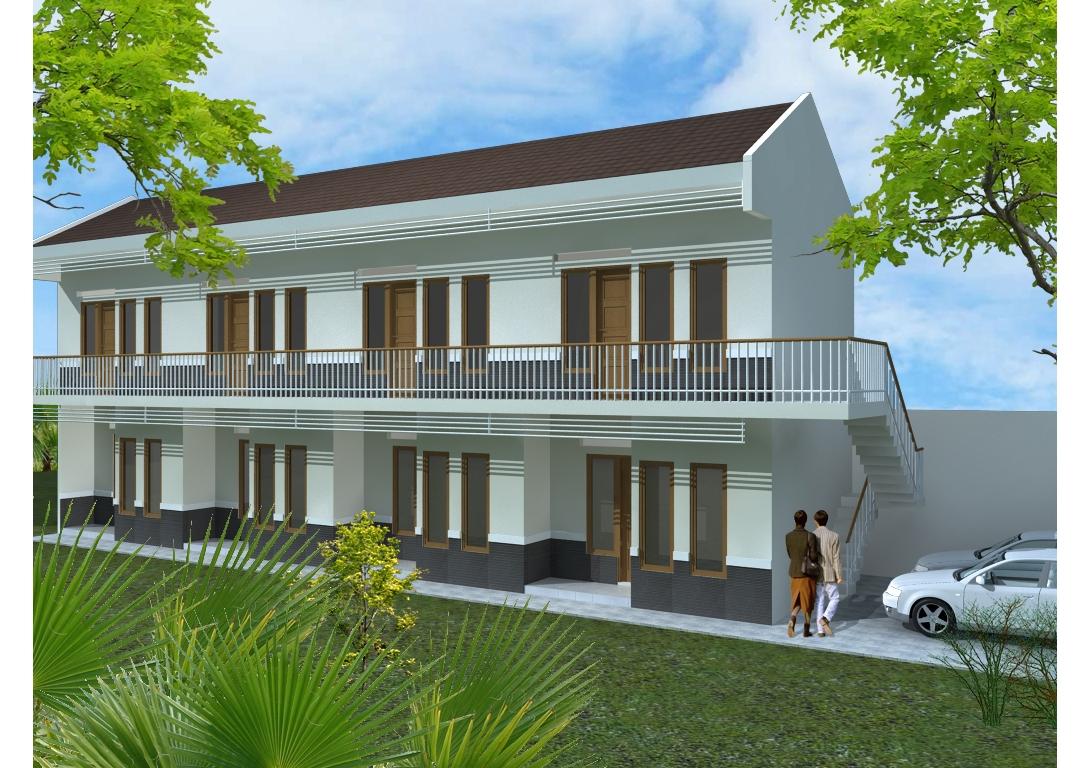 Desain Rumah Kontrakan Kopel Cek Bahan Bangunan