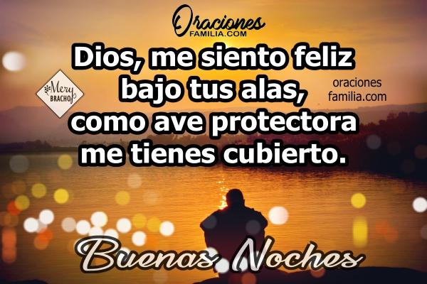 Oración corta para antes de dormir en la noche, frases cristianas con imágenes y oraciones de la noche por Mery Bracho.