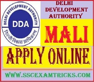 DDA Delhi Mali Vacancy