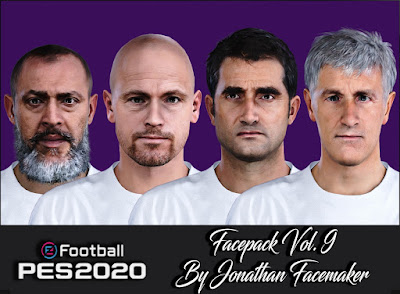 PES 2020 Facepack Vol 8 by Jonathan Facemaker [ Managers ]