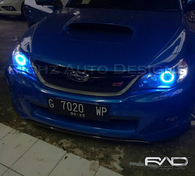 custom headlamp subaru with angel eyes wifi