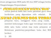 Ketentuan Penggunaan Dana Bos SD dan SMP Sesuai Juknis Bos 2017 Pemendikbud No 26 Tahun 2017