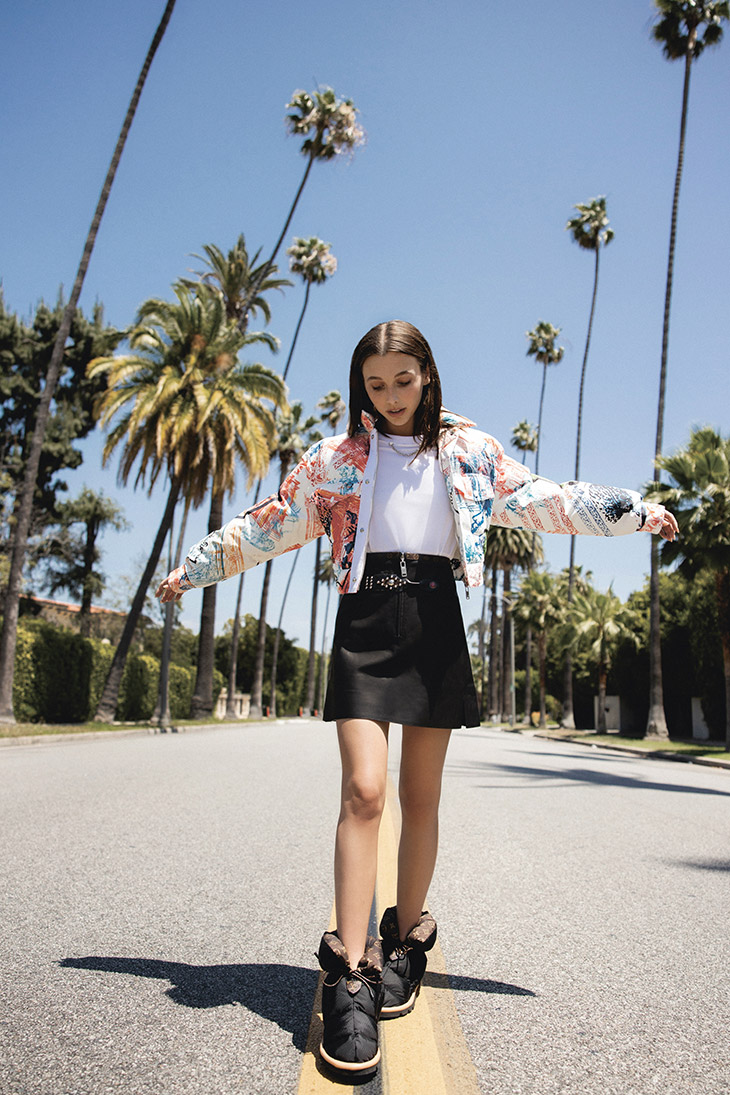 Louis Vuitton Introduces FW21 Footwear Collection With Emma Chamberlain