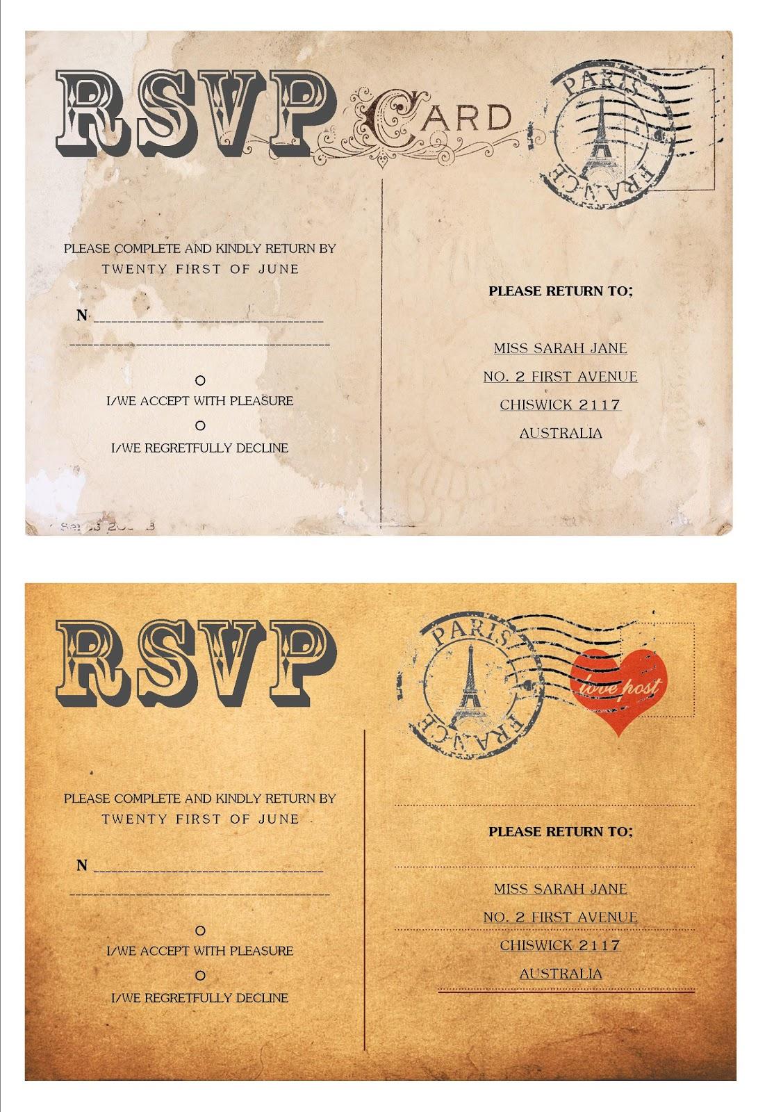 rsvp cards for weddings templates - effortless weddings stationery april 2011