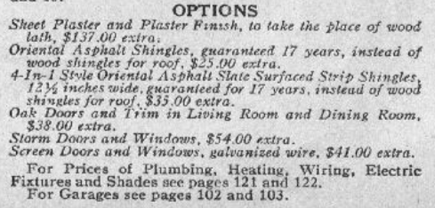 catalog page descriptions Sears Lorain 1929 Sears Modern Homes catalog