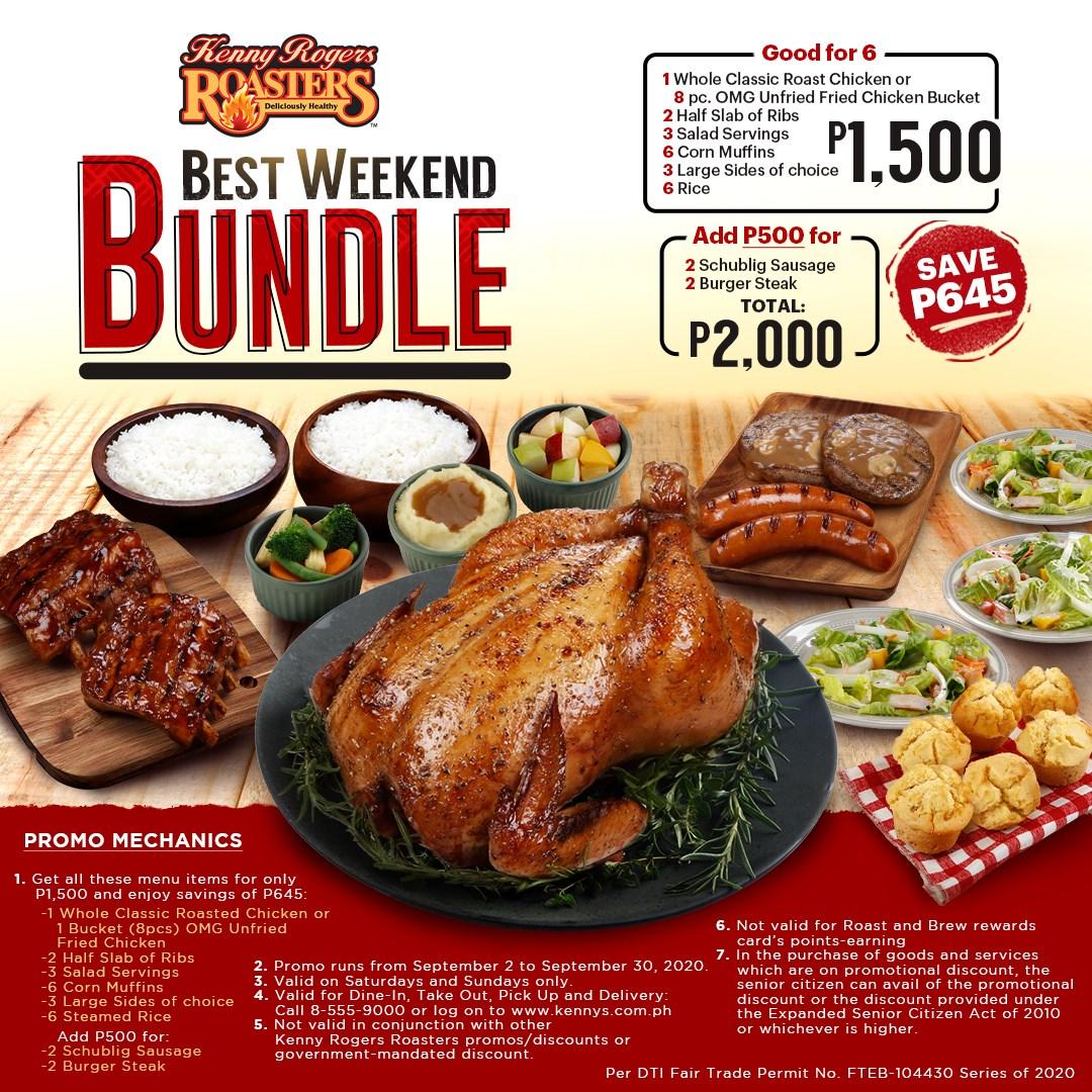 Manila Shopper Kenny Rogers Weekend Bundle Promo September 2020