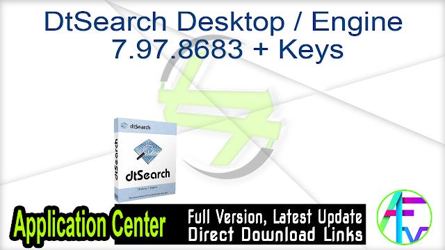 DtSearch Desktop Engine 7.97.8683 + Keys