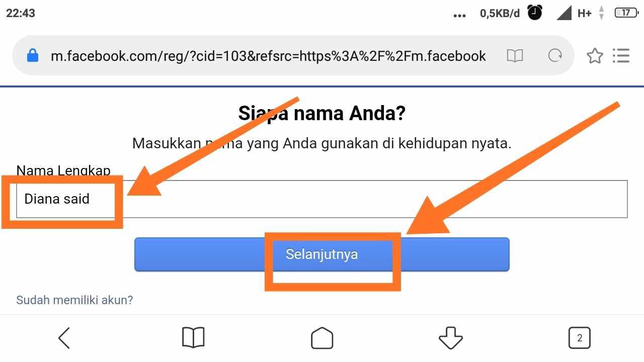 Cara membuat 2 akun FB dengan 1 email
