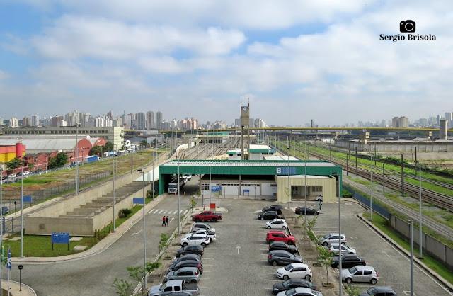 Vista ampla do pátio de manobras Tamanduateí do Metrô de São Paulo - Vila Independência