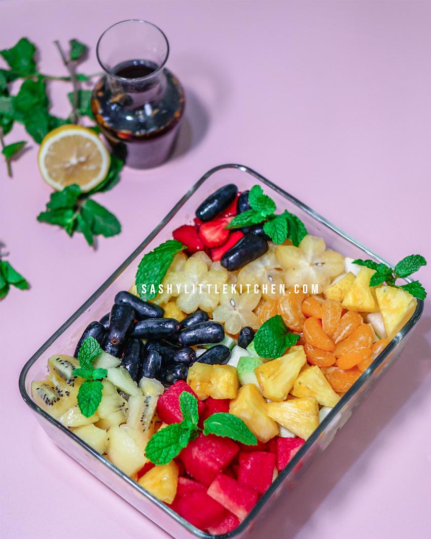 SUMMER FRUIT SALAD | Resep Salad Buah Tanpa Mayonnaise