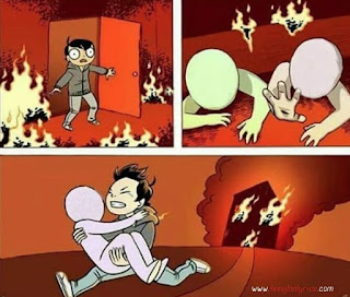 Save From Fire Meme Template