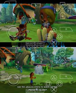 Game Crash of Titans PSP ISO High Compress