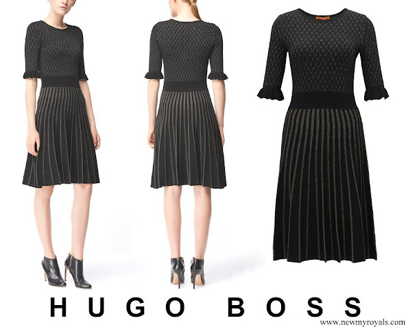 Princess Marie wore Hugo Boss Illora Knee length dress