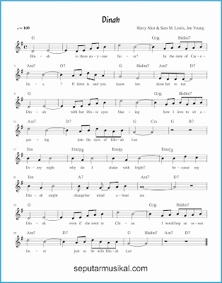 dinah lagu jazz standar