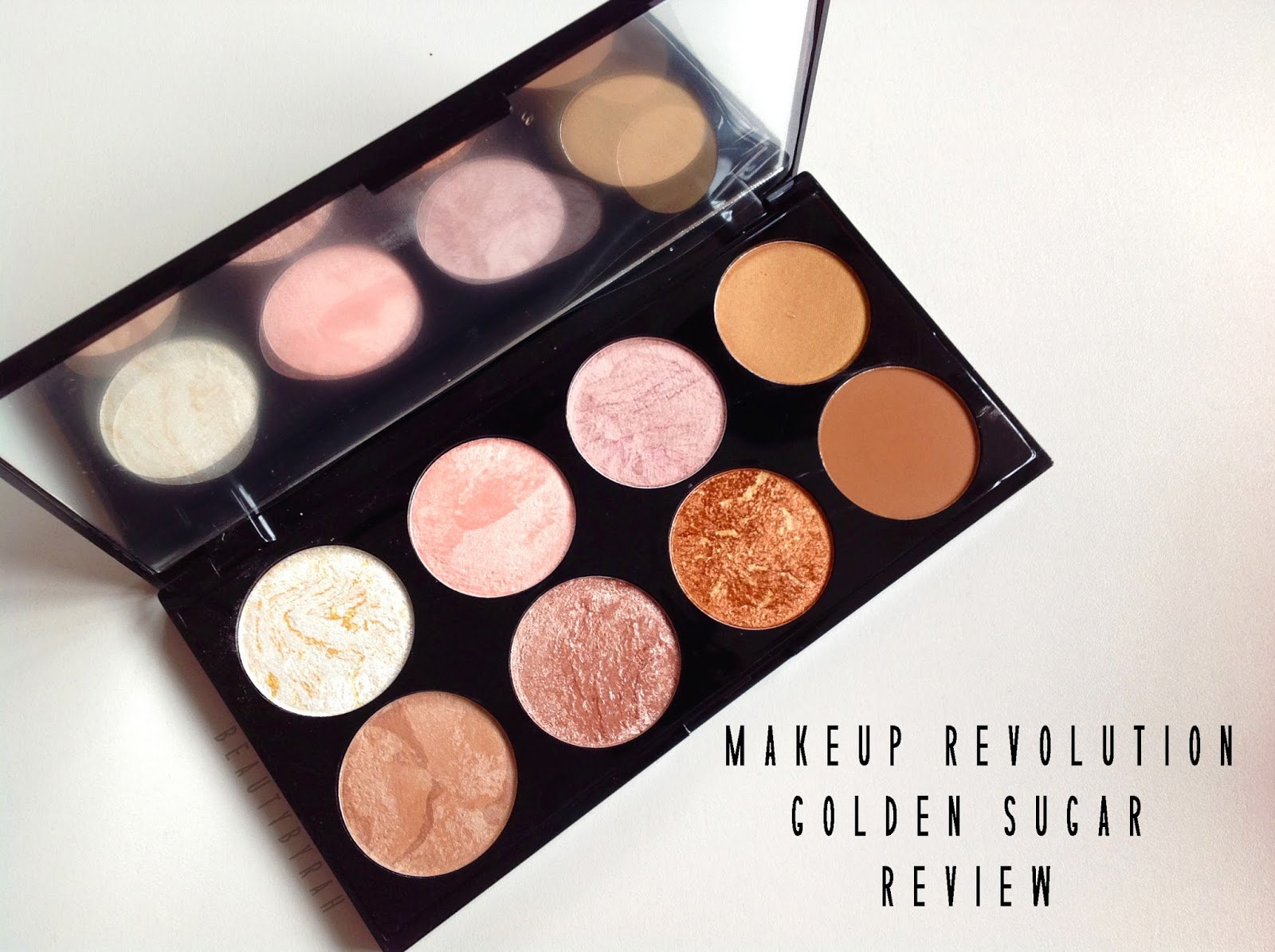 Makeup Revolution Ultra Blush and Contour Palette in Golden Sugar Review and swatches