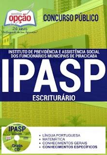 Apostila concurso IPASP de Piracicaba - cargo de Escriturário