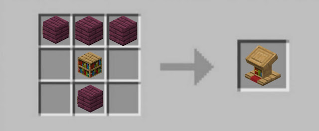 Minecraft Lectern With Crimson Wood Slabs-Patcgescrafts.com