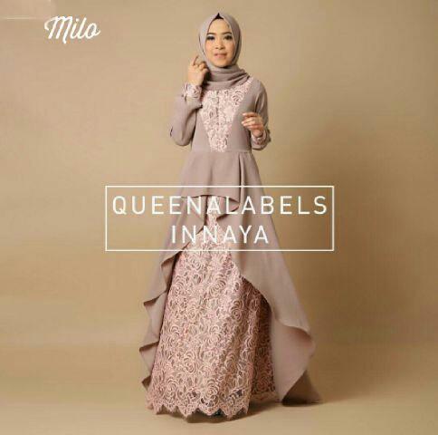 Jual Plus Jilbab / Kerudung 2 In 1 Hijab Inaya Brocade - 12948