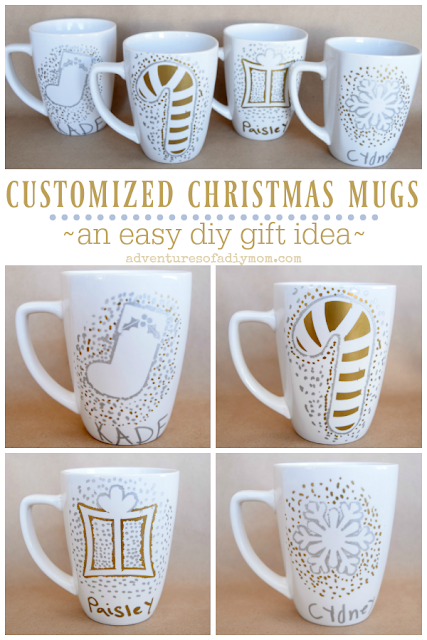 customized christmas mug - an easy diy gift idea