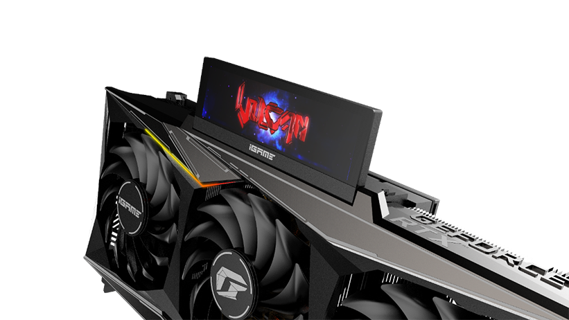 The COLORFUL iGame GeForce RTX 3080 Vulcan has a screen that flips