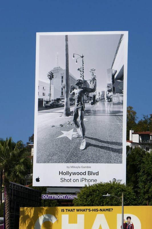 Hollywood Blvd Shot on iPhone billboard