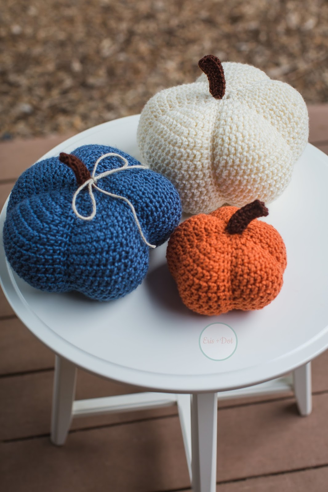 Crochet Pumpkins Set, Stuffed Pumpkins, Set of Three, Rustic, Home Decor, Fall, Autumn, Nature Inspired, Small, Medium, Large, Halloween