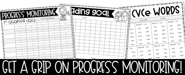 Click Here for Progress Monitoring Products in my TpT store!
