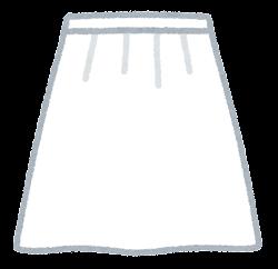 スカートのイラスト(白)