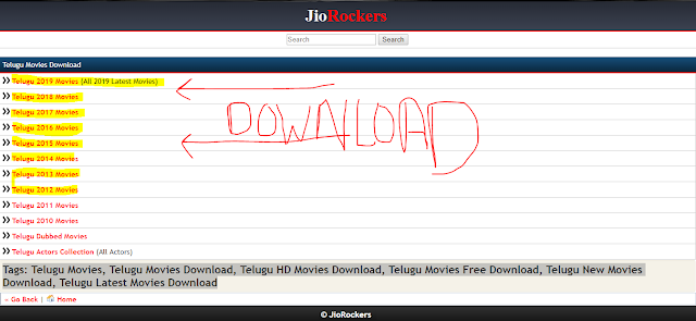 jio rockers 2016 telugu movies download