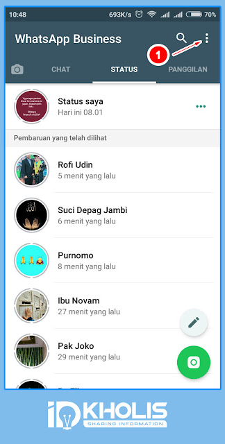 Katalog bisnis menu navigasi whatsapp business