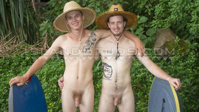 Island Studs - Frisbee Nude #4: High School Surfer Bros Skinny Dip, Drip Cum & Jerk in Rock Hard Hot Duo Action in Hawaii!