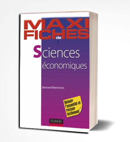 Maxi fiches de sciences économiques en PDF Livre économies