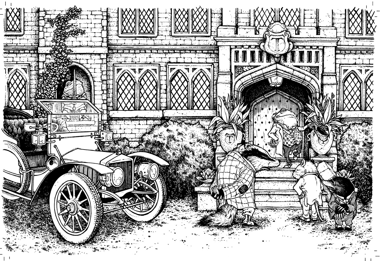 David petersen 39 s blog wind in the willows jacket process for Wind in the willows coloring pages