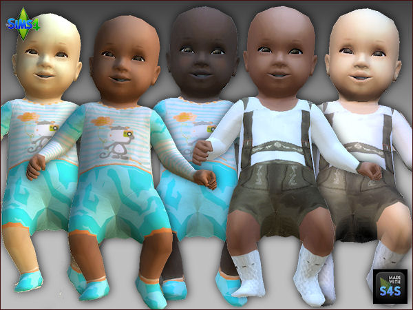Sims 4 CC's - The Best: Replacement Baby Skin and Clothing ...